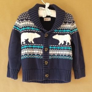 [Cat & Jack] Fair Isle Knit Cardigan Sweater